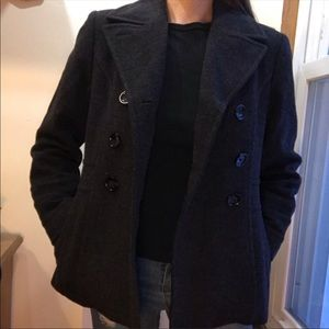 St.Johns Bay Double Breasted Wool Pea Coat